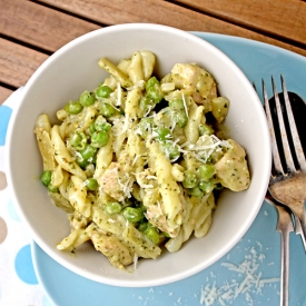 Chicken, Pea  Pesto Pasta