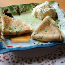 Chive and Saffron Crepes
