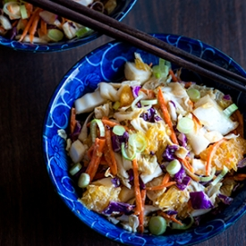 Asian Slaw with Red Chili Peanut