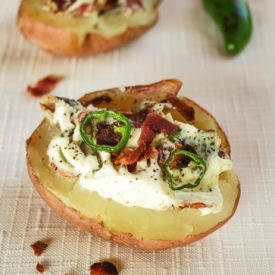 Baked Potatoes with Jalapenos