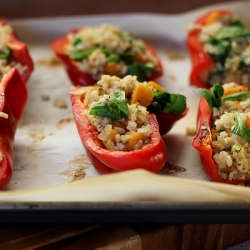 Butternut Squash Stuffed Peppers