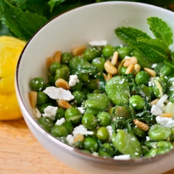 Fava Bean  English Pea Salad