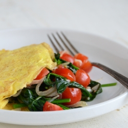 One-Egg Veggie Omelet