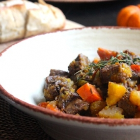 Pumpkin  Beef Slow Cooker Stew