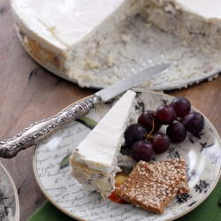 Savory Blue Cheese Cake slice